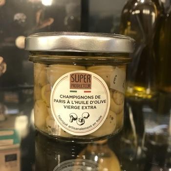 Champignons de Paris à l'huile d'olive extra vierge